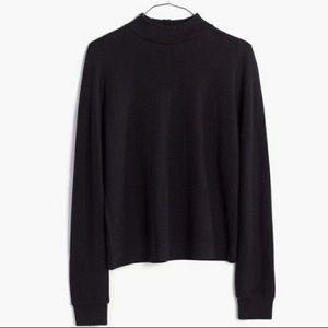 Madewell E1680 lyricist funnel neck top black xs